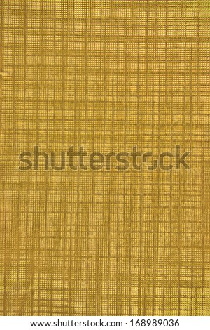 Golden Foil Natural Texture Background, Large Detailed Yellow Vertical Copy Space Macro Closeup - stock photo