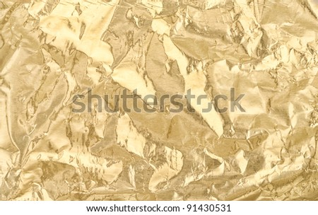Golden foil texture for background - stock photo