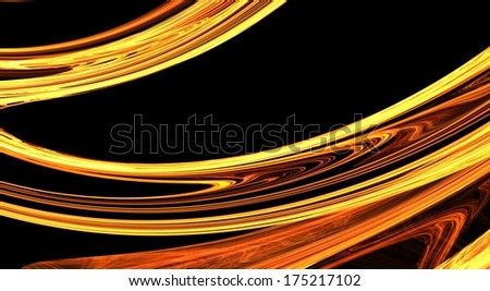 Golden fractal abstract background