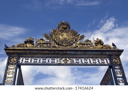 Golden Gate at Palace Versailles, Paris