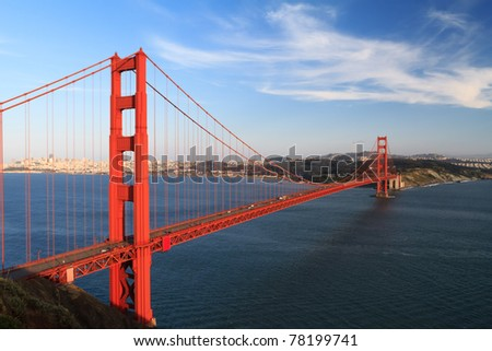 Golden Gate before sunset, San Francisco California