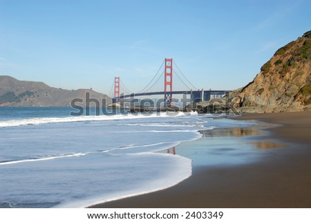 Golden Gate Bridge and Baker Beach, San Francisco, California