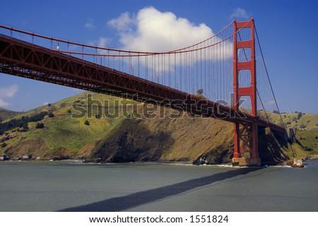 golden gate bridge and Marin Headlands - stock photo
