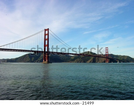 Golden Gate Bridge in San Francisco as viewed from Fort Mason