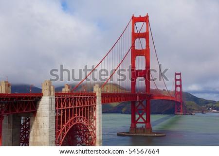 Golden Gate Bridge in San Francisco California. - stock photo