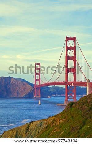 Golden Gate Bridge in San Francisco, California. - stock photo