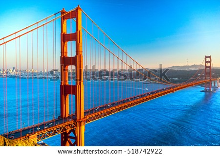 Golden Gate Bridge in San Francisco, California, USA.