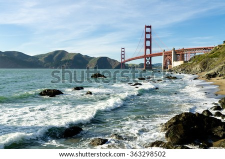 Golden Gate Bridge landmark in San Francisco California USA