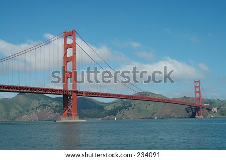Golden Gate Bridge & Marin Headlands, from San Francisco, California