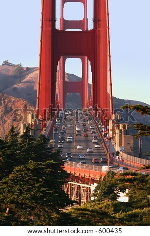 Golden Gate bridge, San Francisco, California - stock photo