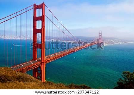 Golden Gate Bridge, San Francisco, California, USA. - stock photo