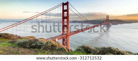 Golden Gate Bridge, San Francisco, California USA. - stock photo