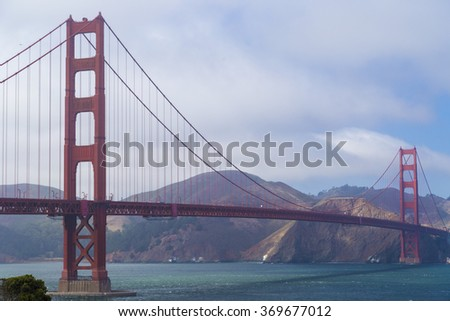 Golden Gate Bridge, San Francisco, California, USA during a clean sunny day
