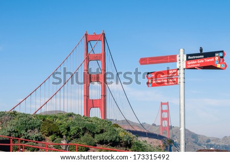 Golden Gate Bridge - San Francisco in a bright sunny day