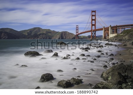 Golden Gate Bridge see from Marshall Beach, San Francisco