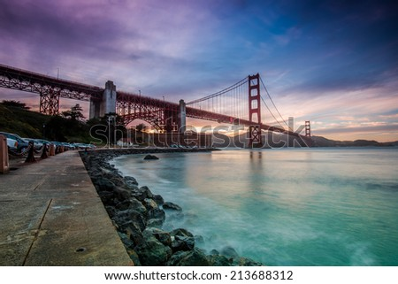 Golden Gate Bridge Sunset - stock photo
