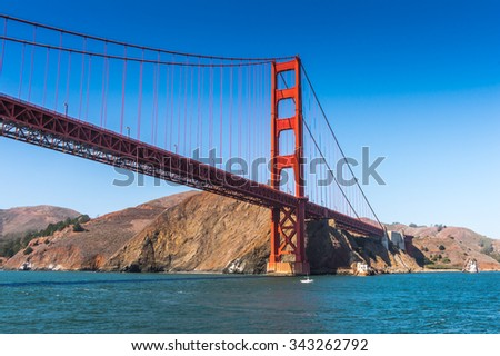 Golden Gate Bridge, suspension bridge   between San Francisco Bay and the Pacific Ocean, San Francisco, California, United States of America