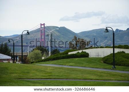 Golden Gate Bridge View - stock photo