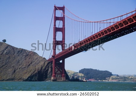 Golden Gate Bridge viewed from the water