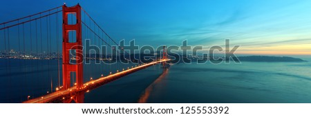 Golden Gate panorama - stock photo