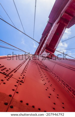 Golden Gate polygon Bridge in San Francisco, California, USA - stock photo