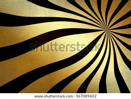 Golden glitter abstract textured burst wave background black on gold