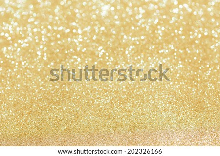 golden glitter christmas abstract background - stock photo