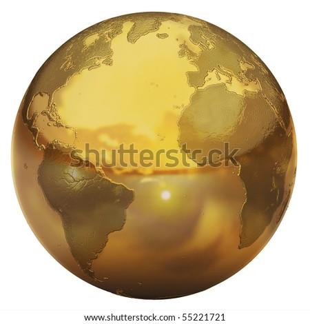 golden globe - stock photo