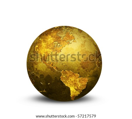 Golden Globe - stock photo