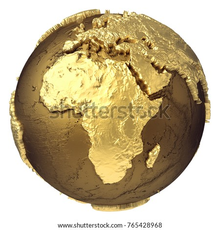 Golden globe model without water africa stock illustration 765428968 golden globe model without water africa 3d rendering isolated on white background elements publicscrutiny Choice Image