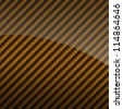 Golden glossy carbon fiber background or texture - stock vector