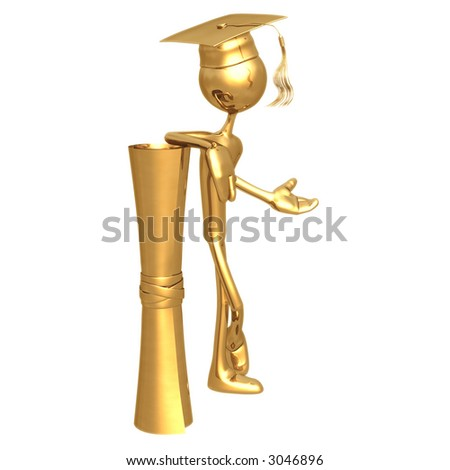 Golden Grad Graduation Concept
