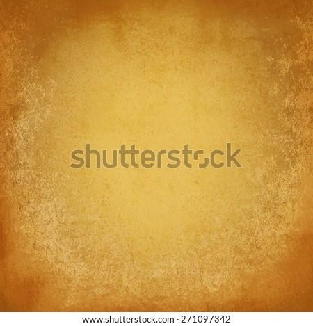 golden grunge wall - stock photo