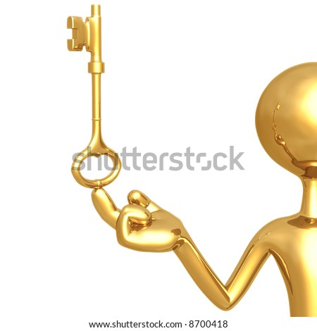 Golden Guy With Key