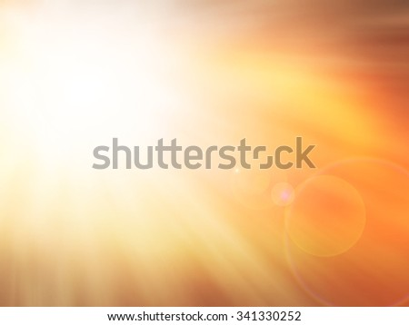 Golden heaven light on sky Hope concept abstract blurred background from nature - stock photo