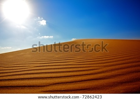 Golden hill - stock photo