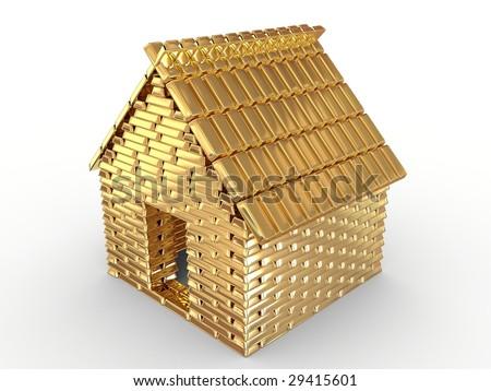 Golden house - stock photo