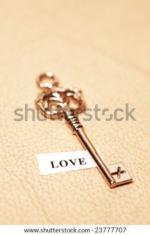 golden key with lable