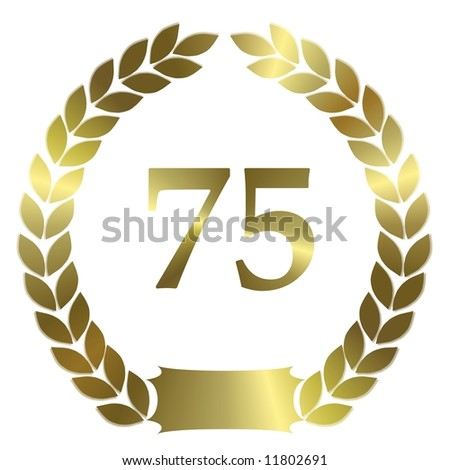 golden laurel wreath 75 years