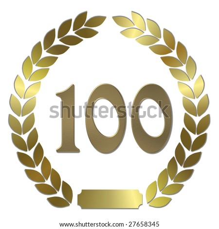 golden laurel wreath 100 years