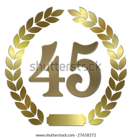 golden laurel wreath 45 years