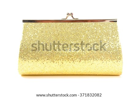 Golden little clutch