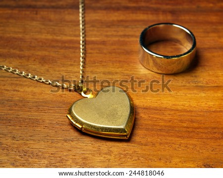 Golden love      - stock photo