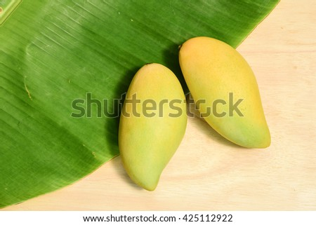 Golden mango, king of fruit from Thailand .Sweetie mango