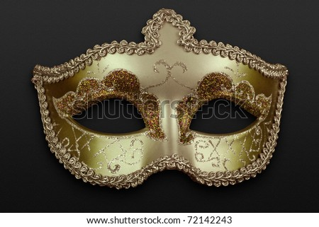 golden mask - stock photo