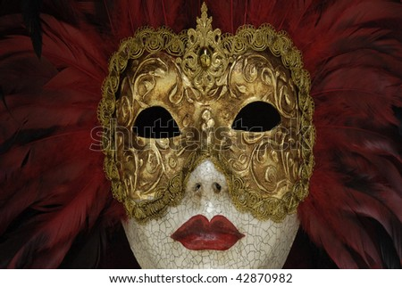 golden mask at Venice