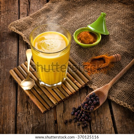Golden Milk, made with turmeric. Remedy for many diseases.