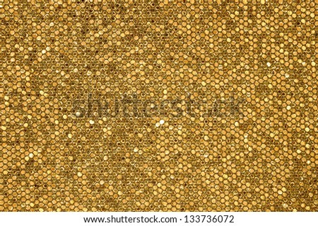 Golden mosaic background - stock photo