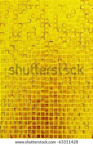 golden mosaic texture - stock photo