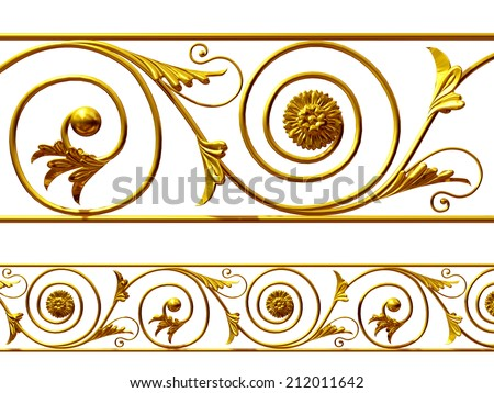 golden Ornament, you can use this single element to create a frieze. This complements my ninety degree angle items for a circle or corner. See set, decorative ornaments, in my portfolio - stock photo